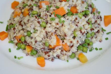 Taboulé d'amarante et quinoa aux petits légumes