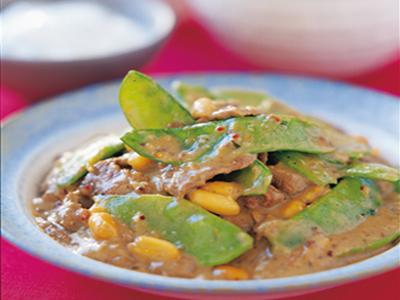 Curry de boeuf aux cacahuètes