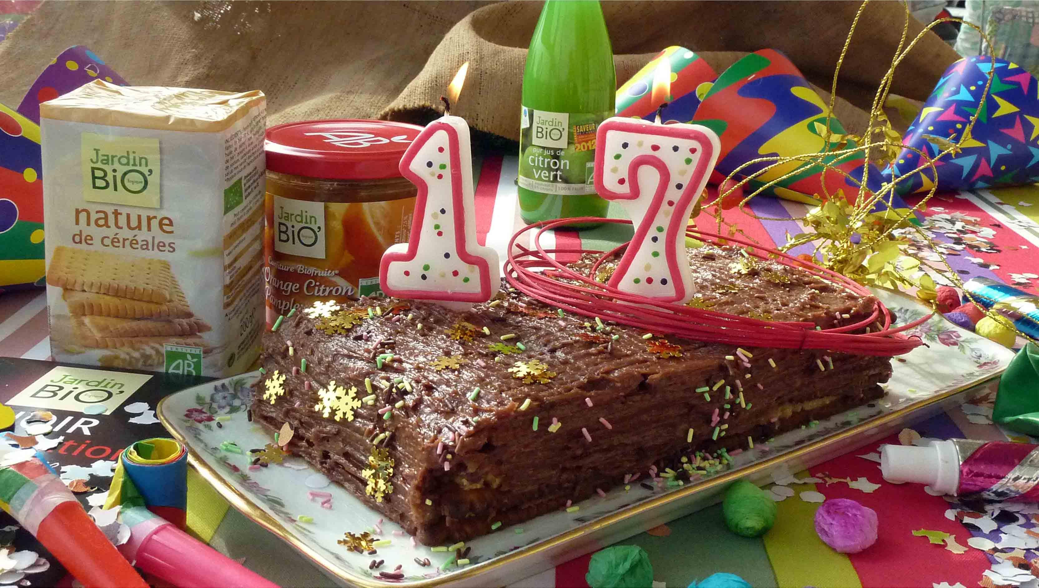 G¢teau d anniversaire…17 ans Jardin BiO