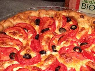 Tarte tomate mozza et pain d'épices