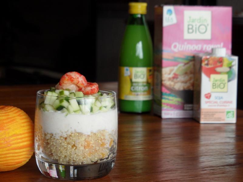 Verre fraîcheur au quinoa