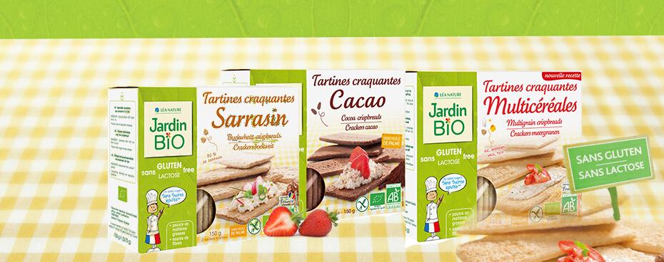 Tartine sans gluten sans lactose Jardin BiO étic