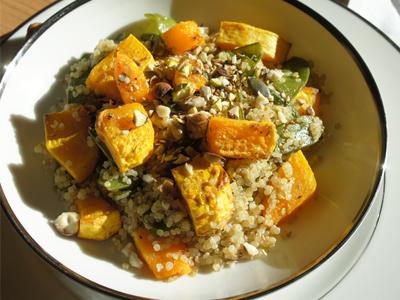 (Français) Quinoa et courge butternut