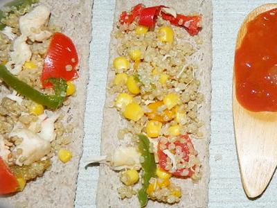 (Français) Salade de Quinoa au poulet