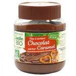 Pâte à tartiner chocolat caramel Jardin BiO