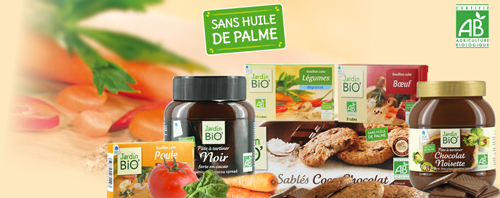 produits sans huile de palme Jardin BiO étic