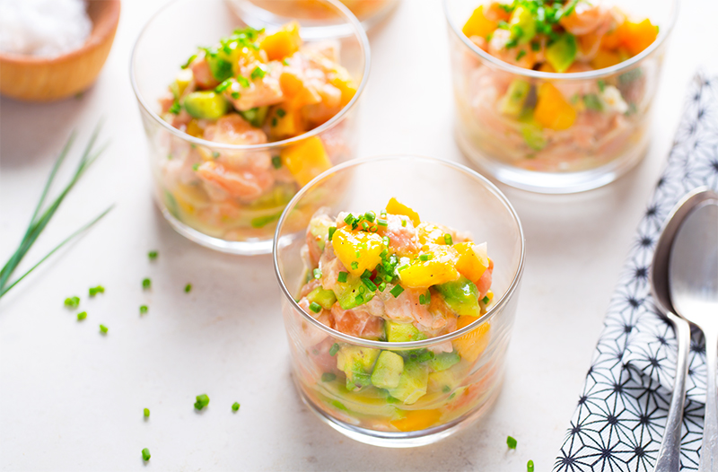 [:fr]Tartare de saumon, citron & lait de coco[:]