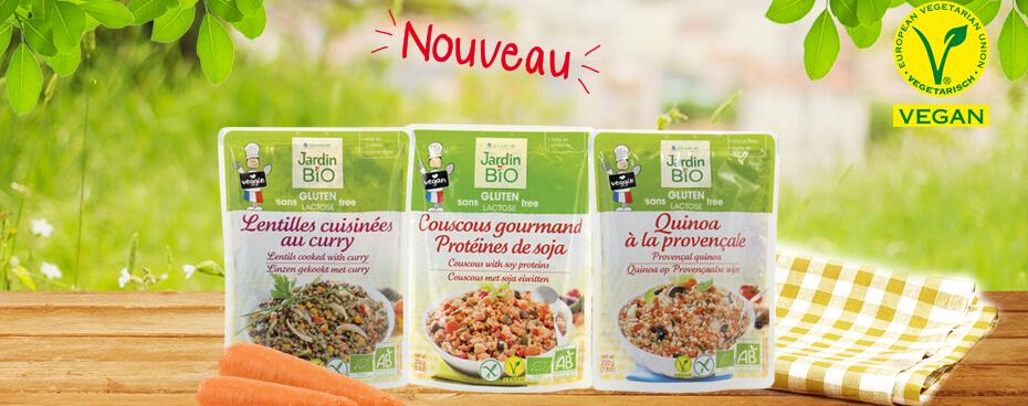 Sachets repas vegan Jardin BiO