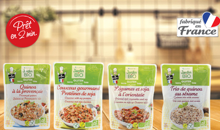 Selection de sachets veggie et vegan aux protéines végétales