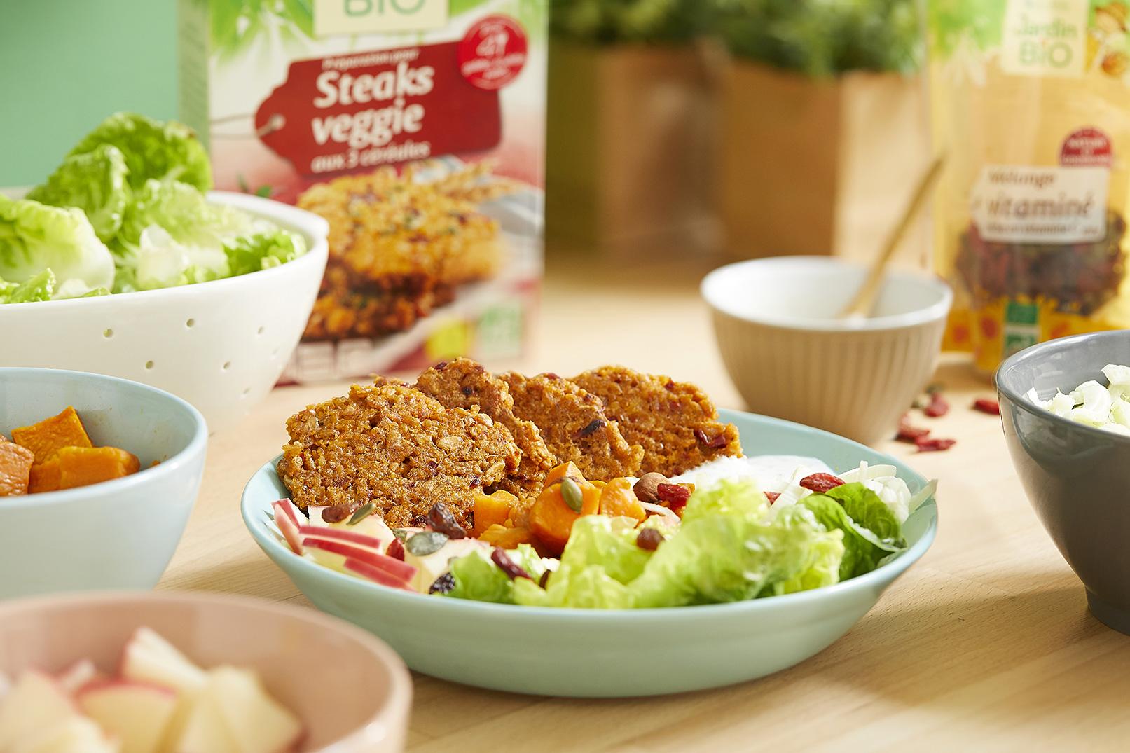 [:fr]Salade tiède d'automne aux croquettes veggie 3 céréales[:]