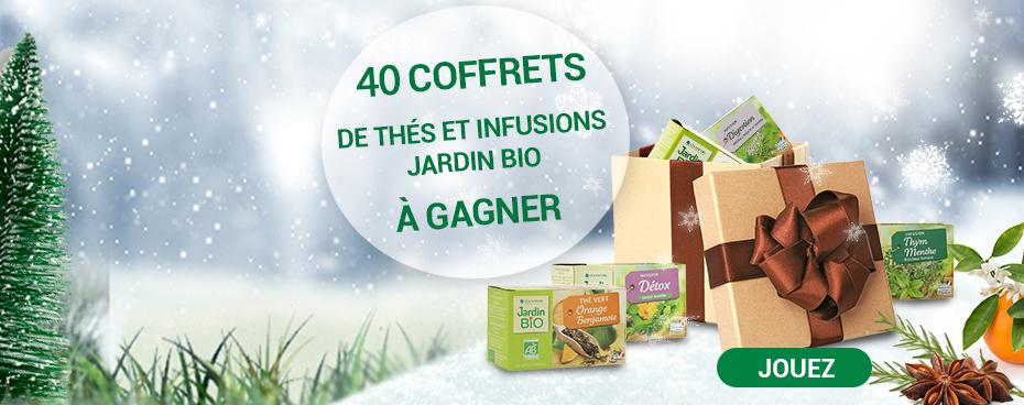 découvrez le Grand jeu Calendrier gagnant Jardin avec 40 coffrets de thés et infusions à gagner|Jardin BiO