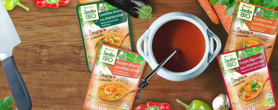 Soupe en morceau et sachet express Jardin BiO |veggie