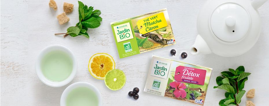 Nouveautés chez Jardin BiO avec un thé et une infusion bio