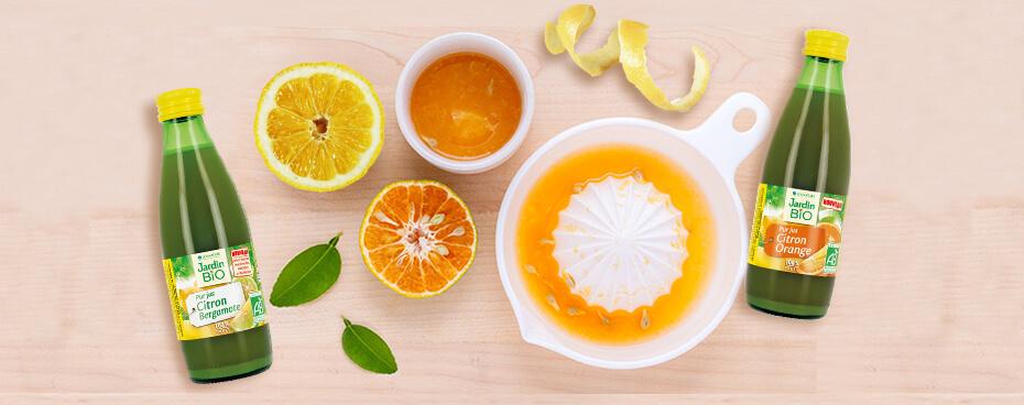 Les jus de citrons Jardin BiO étic