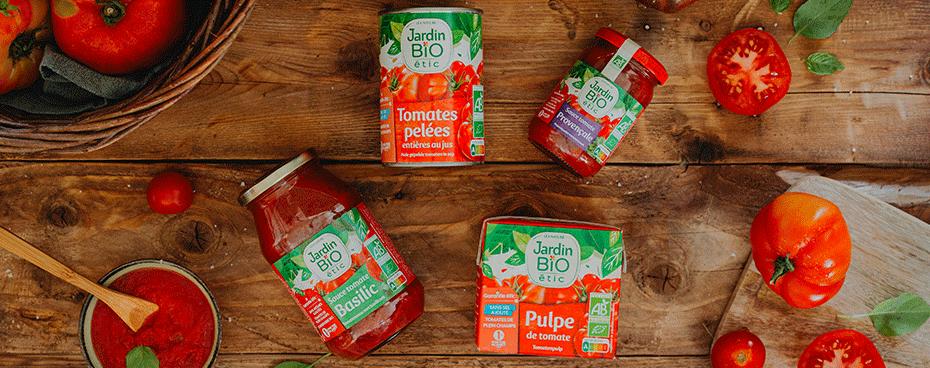 Bandeau Sauces tomates Jardin BiO étic