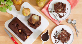recette cake chocolat poire Jardin BiO
