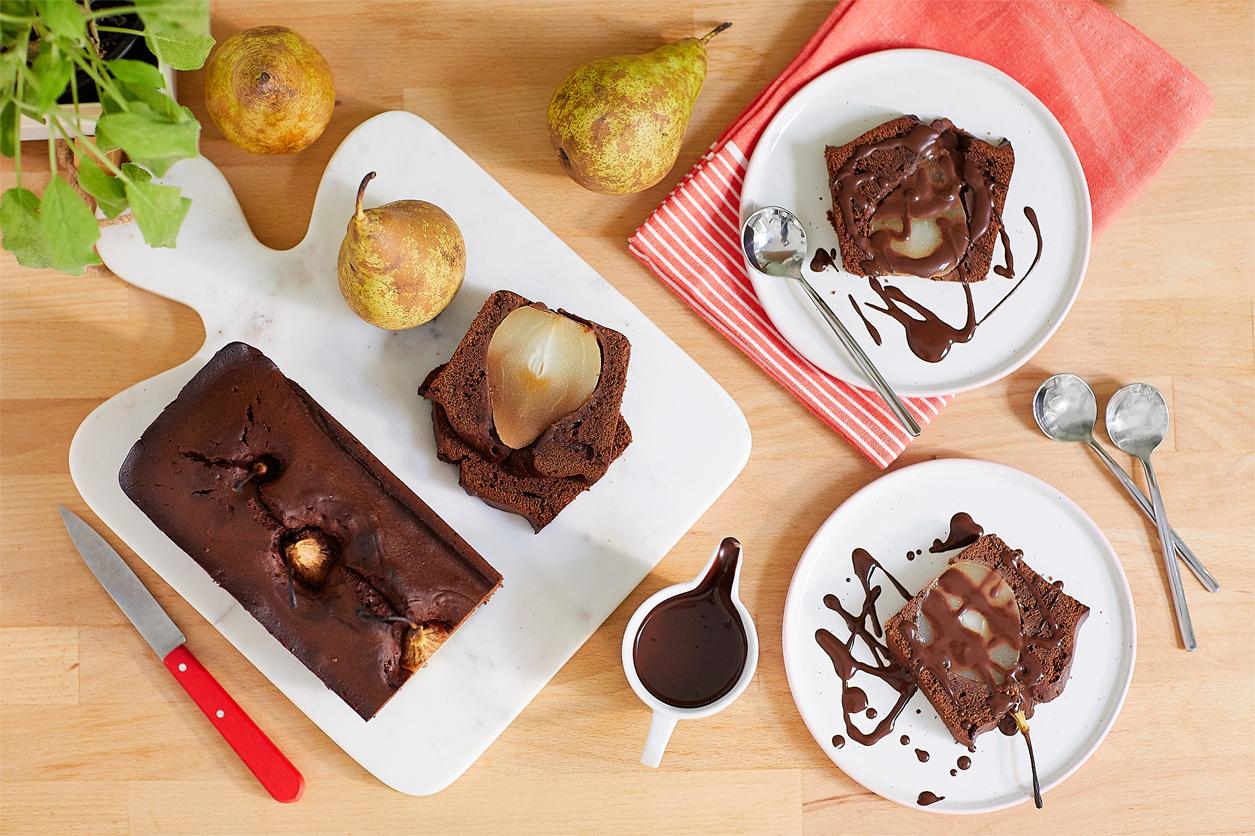 Cake chocolat à la poire