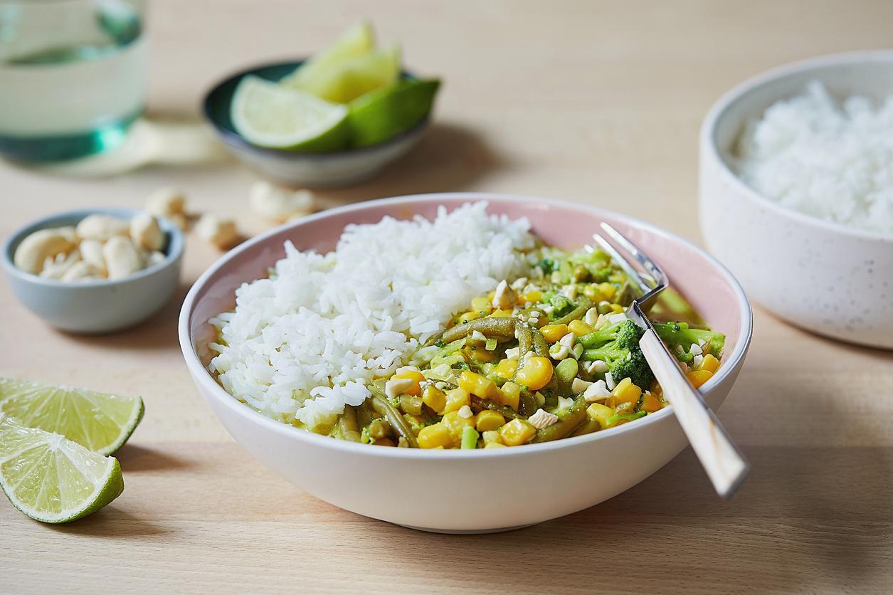 Curry de haricot vert au maïs