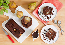 Recette bio de gâteau poire chocolat