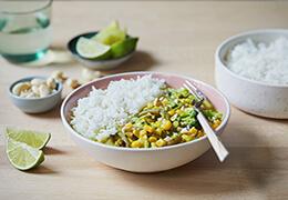 Recette bio de curry haricots verts