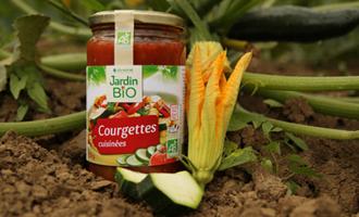 produit Jardin BiO étic courgettes cuisinées avec courgette cultivée