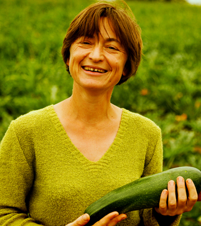 agricultrice courgette