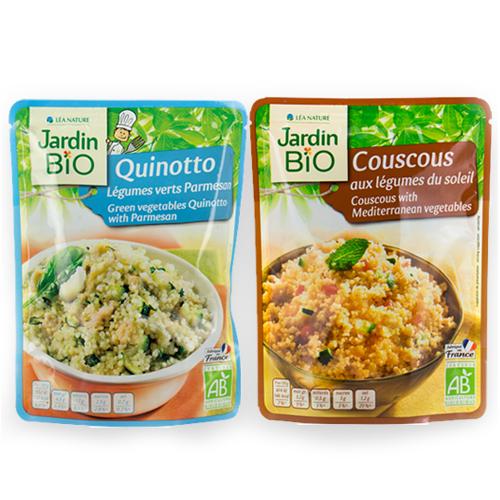 image produit jardin bio quinotto légumes verts parmesan et le produit couscous aux légumes du soleil