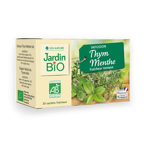 visuel produit jardin bio infusion thym menthe
