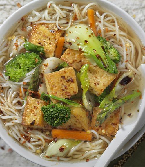 bol nouilles au tofu et lait de coco Jardin BiO étic recette