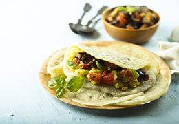 chapatis maison et ristes aubergines Jardin BiO étic recette