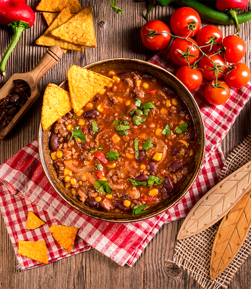 recommandation du chili végétal aux légumes frais