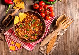 Image recette chili végétal Jardin Bio