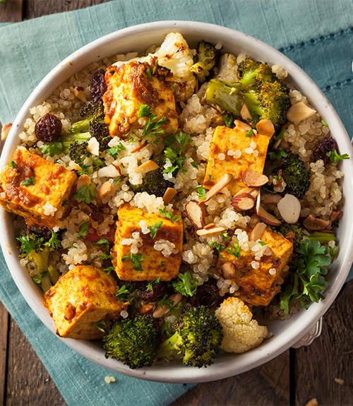 Image recommandation couscous légume tofu recette