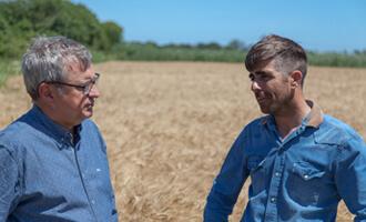 Découvrez Frédéric, producteur de blé dur en Camargue pour Jardin BiO étic