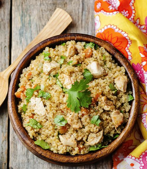 gigolette de lapin et pilaf de quinoa recette Jardin BiO étic recommandation
