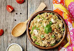 gigolette de lapin et pilaf de quinoa recette image miniature Jardin BiO étic