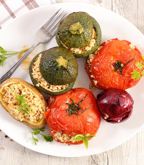 recommandation recette jardin bio légumes farcis végétariens