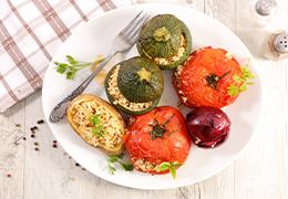 Légumes farcis végétariens Jardin BiO étic recette