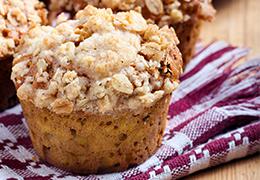 Image de la recette de mini muffins et pomme crumble caramel beurre salé