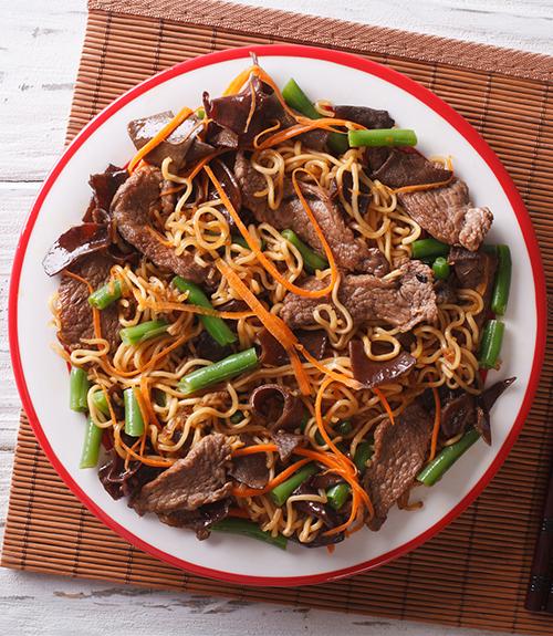 nouilles chinoises boeuf recette jardin bio image recommandation