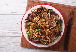 image listing nouilles chinoises bio boeuf recette jardin bio