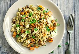 Image d'un quinoa courge butternut