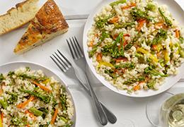 recette Jardin BiO étic risotto petit épeautre légumes