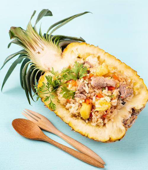 recommandation riz à l'ananas et sauté de porc recette jardin bio