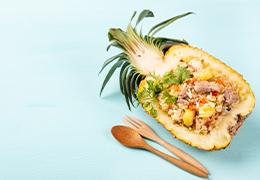 riz ananas porc jardin bio
