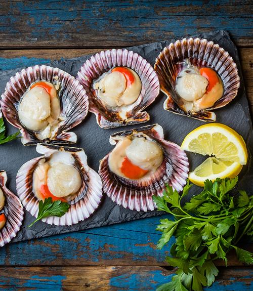Saint-Jacques des Charentes rôties sur lit de lentilles corail et trio de riz, sauce de soja à la clémentine bio recommandation