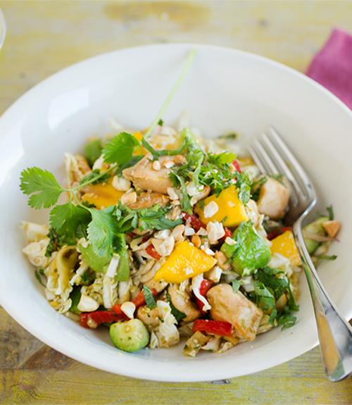 salade détox jardin bio recette avec mangue avocat blancs de poulet grillés et citron vert