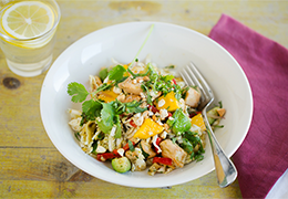 recette Jardin BiO étic salade détox mangue avocat blanc de poulet grillés et citron vert