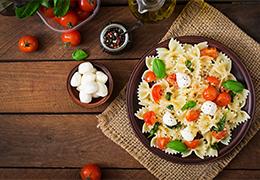 salade farfalles à la caponata sicilienne Jardin BiO étic recette