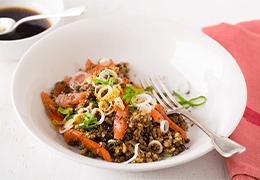 salade Jardin BiO étic céréales lentilles saumon fumé Jardin BiO étic